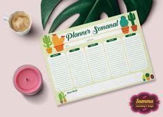 (digital) Planner Semanal Cactus 1
