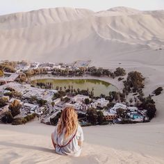 """Mirage or Real? Location: @amyebanksy enjoying the view of Huacachina - Ica, Peru. Photo Credit: @amyebanksy"""