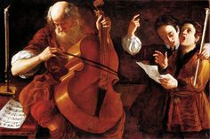Concert with Two Singers. Giovanni Domenico Lombardi (Italian, 1682-1751). Oil on canvas. Lombardi studied first with Giovanni Marracci (1637-1704) in Lucca. He continued the local tradition of Pietro Paolini. He was much appreciated in the nineteenth century, his significance, however, later declined.