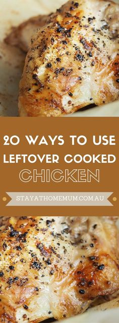 This is fantastic if you have too much chicken roasted or grilled, or you've got some leftover rotisserie chicken. There are 20 recipes to get you started, but there are loads more!