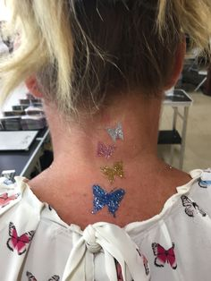 Butterfly glitter temporary tattoo by #LaineToo