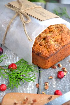 Gluten-Free Pumpkin Pecan Bread