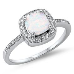Princess Cut Lab Created White Opal & Cz Fashion .925 Sterling Silver Ring Size 7 Oxford Diamond Co http://www.amazon.com/dp/B00E4V7WLG/ref=cm_sw_r_pi_dp_RMKwub1GJ7SEE