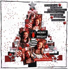 Merry and Bright - Ho Ho Ho Merry Christmas Scrapbook Layout Sketches, Scrapbooking Layouts, Christmas Scrapbook Layouts, Christmas Layout, Merry Christmas, Baby Scrapbook, Scrapbook Cards, Christmas Journal, Scrapbook Embellishments