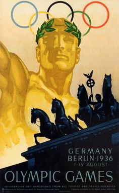"""Germany, Berlin, 1936 """"Olympic Games"""" German version original Poster by Ludwig Hohlwein Retro Poster, Vintage Travel Posters, Olympic Sports, Olympic Games, Berlin Olympics 1936, Kunst Poster, Poster Prints, Art Prints, Berlin"""