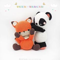 We start the week with a lot of sweetness, our naughty Milo and Kumiko wish you & We start the week with a lot of sweetness, our naughty Milo and Kumiko wish you a Happy Monday & Crochet Blanket Patterns, Crochet Stitches, Knitting Patterns, Crochet Dolls, Crochet Hats, Bunny Toys, Yarn Ball, Amigurumi Toys, Kawaii