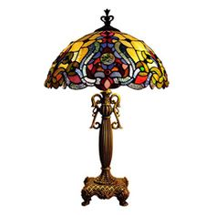 @Overstock - This Tiffany style table lamp features a bright and colorful shade made of glass and an antique gold colored base. The base of this lamp has a Victorian style and stands on four legs.http://www.overstock.com/Home-Garden/Tiffany-Style-Victorian-Antique-Gold-Table-Lamp/5943143/product.html?CID=214117 $119.99
