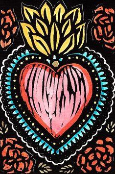 Illustrations, Illustration Art, Mexican Folk Art, Heart Art, Cute Wallpapers, Diy Art, Art Inspo, Iphone Wallpaper, Street Art