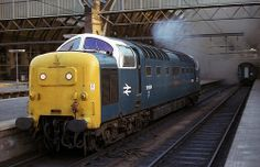 55009 'Alycidon' leaves a smoke screen at Kings Cross in May 1980. (Andy Hoare)