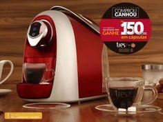 Cafeteira Expresso Três Corações - Modo Automática - Multibebidas Vermelho com as melhores condições você encontra no Magazine Jc79. Confira!
