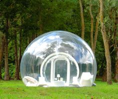 Good for star-gazers, bad for honeymooners. The inflatable and transparent Bubble Trees are used as guest houses in several places in France.