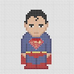 Cross stitch DC Comics Justice League Superman.