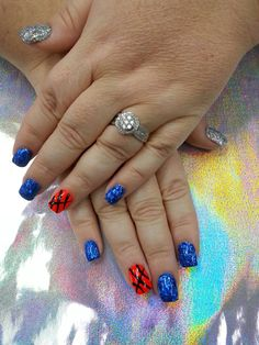 Ready for March Madness with my UK Wildcat nails!