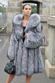 Fox Fur Coat, Fur Coats, Furs, Jackets, Clothes, Arctic, Fashion Ideas, Silver, Passion