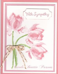 Lotus in Pinks by sc magnolia - Cards and Paper Crafts at Splitcoaststampers