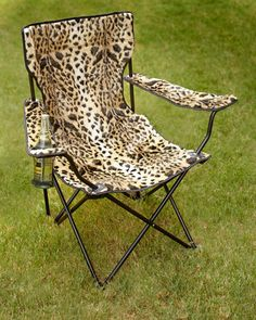 Beau H7ZJH Leopard Print Folding Chair