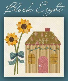 Block 8 Country Cottage Shabby Fabrics -Free Patterns