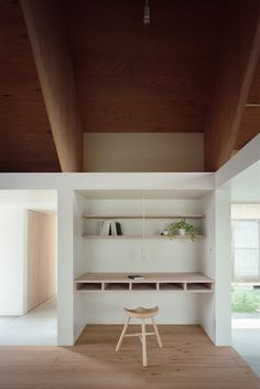 Koya No Sumika by mA-style architects. Raw pale wood and white walls. #lovligianna