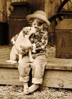 sweet little girl and dog http://www.cafepress.com/tlconline