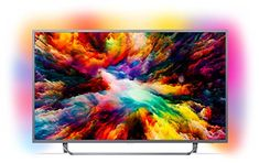 Philips Ultra HD Android Smart TV with HDR Plus and Ambilight - Dark Silver Model) - Kitchen Electronics Smart Tv, Tv Philips, Hifi Video, Amazon Alexa Skills, Android Tv, Tv Hacks, 4k Ultra Hd Tvs, Digital Cable, Atelier