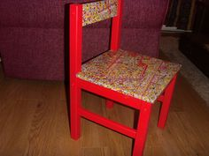 Upcycled old chair. Wheres Walley