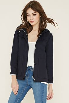 Boxy Hooded Jacket - Best Sellers - 2000168290 - Forever 21 EU English
