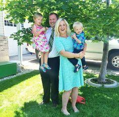 @Diana Avery Smith and her adorable family! #junieblake #lace #aqua