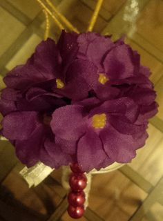 African Violet Corsage by ADPCreates on Etsy, $15.00