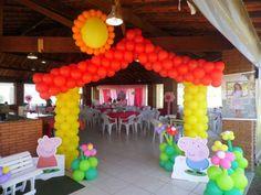 arco en globos pepa pig - Buscar con Google