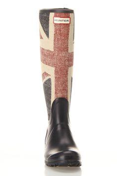 Union Jack rain boots