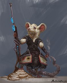 Commission - Dungeons and Dragons mousefolk by GetsugaDante on DeviantArt Fantasy Character Design, Character Creation, Character Design Inspiration, Character Concept, Character Art, Concept Art, Fantasy Warrior, Fantasy Rpg, Dnd Characters