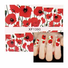FWC National Fashion Pattern Water Nail Art Stickers 2017 Decals For Beauty 1390 #Affiliate