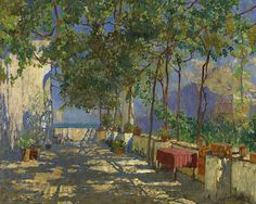 Konstantin Gorbatov - Patio in Capri [1925] by Gandalf's Gallery, via Flickr