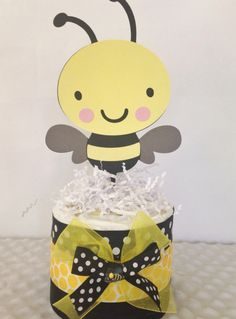 Bumble Bee Baby Diaper Cake Shower Centerpiece On Etsy 6900