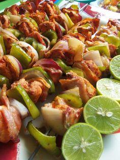 Alambritos de Pollo (Chicken Kabobs) - Hispanic Kitchen