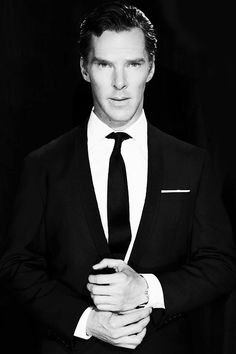 "I have been thinking of my perfect man and I have an answer Benedict Cumberbatch. I want a man who is goofy, sweet, generous, handsome, loving, a bit of style, tall, has heart, and most importantly, he is himself no matter what anyone else thinks. And if I may say so, every think checks out for Benedict. So when I get a boyfriend I'll say these exact words, ""Look up Benedict Cumberbatch, study him, become him. Then we can talk."""