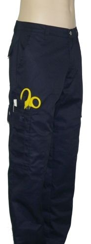 DutyWear Ladies EMT Low-Rise Duty Pants (Dk. Navy).  The only decent looking women's EMT pants I've seen online