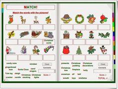 """""""Christmas"""" es un libro interactivo para el apendizaje del inglés en el que, con centro de interés en la Navidad, se practica, escuchando, leyendo y escribiendo, el vocabulario navideño y el conocimiento de las características de la Navidad. Candy Cane Reindeer, Lighted Wreaths, Yule Log, Christmas Pudding, English Lessons, English Vocabulary, Mistletoe, Christmas Cards, Presents"""