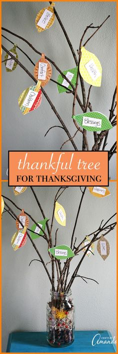 Making a thankful tree during the Thanksgiving season is easy to do and makes a great project to involve the kids in. A great project for the holidays! #thanksgivingcrafts #thankfultree #thankful #kidscrafts #craftsforkids
