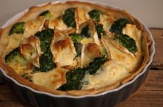 broccoli brie quiche