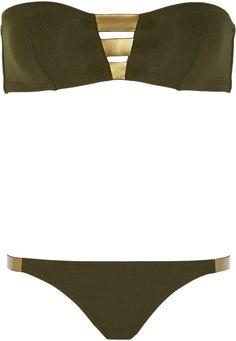 ba331df1f7802 H-A-L-E.COM BATHING SUITS - Eres Alliages Tungst Ne Bandeau Bikini  HALE   30DaysOfSummer
