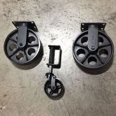 Industrial Cart Coffee Table Caster Set by VISupply on Etsy