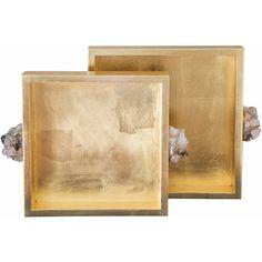 Found it at Wayfair - Astoria 2 Piece Quartz Square Tray Set Decorative Accessories, Decorative Items, Rose Gold Decor, Square Tray, Metal Mirror, Burke Decor, Quartz Stone, Quartz Crystal, Rose Quartz