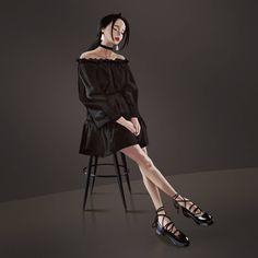 Study drawings by wonbin lee - The Art Showcase Fashion Games, Fashion Art, Girl Fashion, Fashion Design Drawings, Fashion Sketches, Tmblr Girl, Japonese Girl, 5 Anime, Digital Art Girl