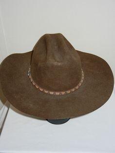 539ad8967f3 Justin Authentic Western Headwear Milano Cowboy Hat sz 7 1 8 57 wool brown