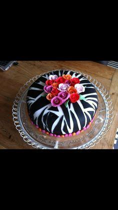 Zebra rozen taart