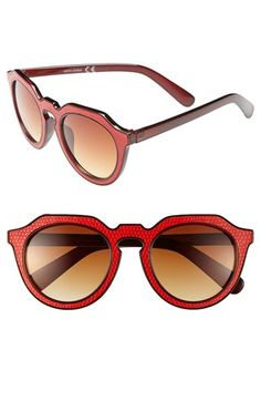 Vintage style sunglasses: Womens A.J. Morgan Zipster 50mm Sunglasses - Red $24.00 AT vintagedancer.com