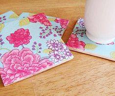 Mother's Day Craft Ideas- Colorful Coasters