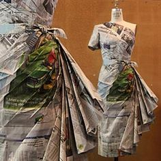 Inspired by Nat Geo's 'Your Shot' photo feature of a stunning newspaper dress in Madrid.