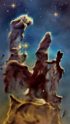 #SpaceChallenge #sonysketch #fridayswithsketch Since I'm insanely in love with astronomy, I couldn't resist the second artwork. This time The Pillars of Creation! 100 % Sony Sketch. ALMIGHTY SMUDGER+PAINTBRUSH! ;D